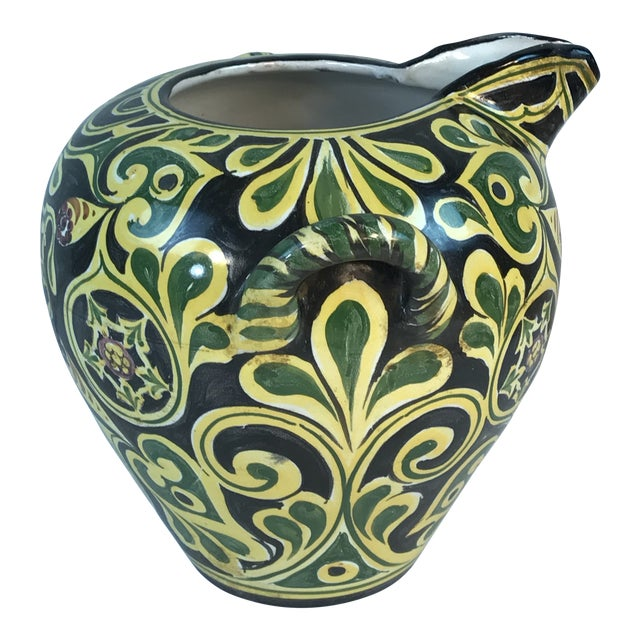 Antique 19th C. Cantagalli Deruta Italy Pottery Urn Vase For Sale