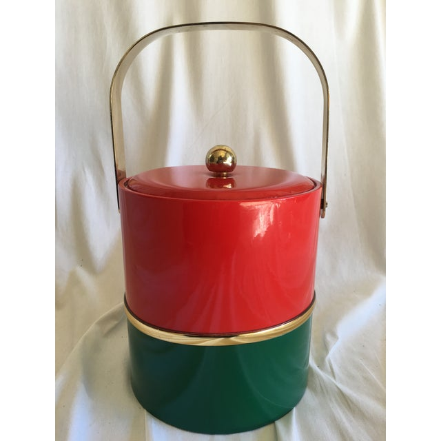 Georges Briard Georges Briard Holiday Ice Bucket For Sale - Image 4 of 9
