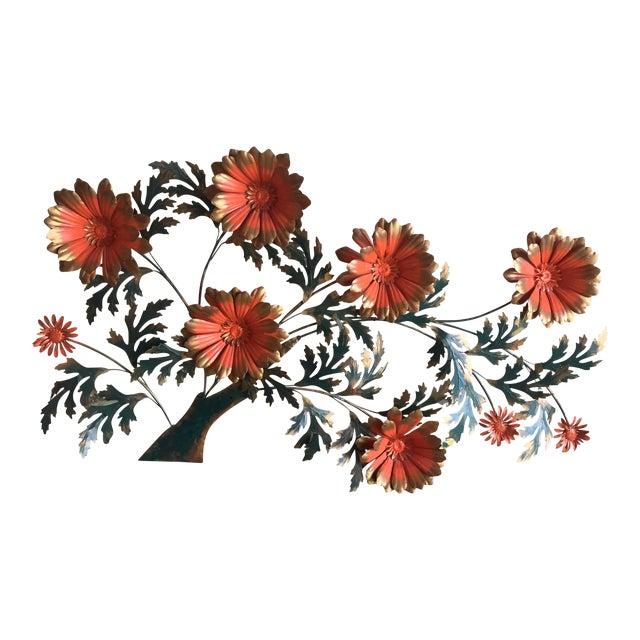 1960's Vintage Metal Flower Wall Art - Image 1 of 3