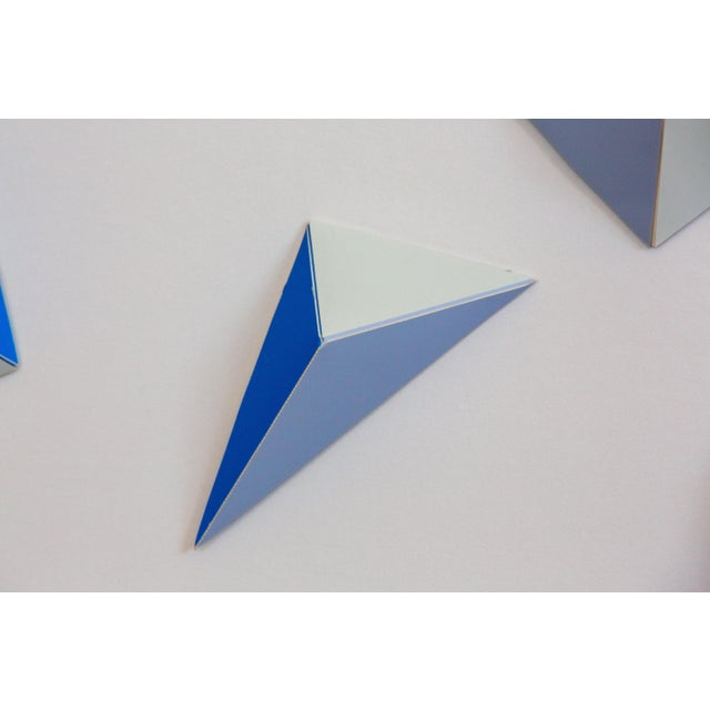 Abstract Origami Blue Triangle Abstract Collage by Dawn Wolfe For Sale - Image 3 of 4