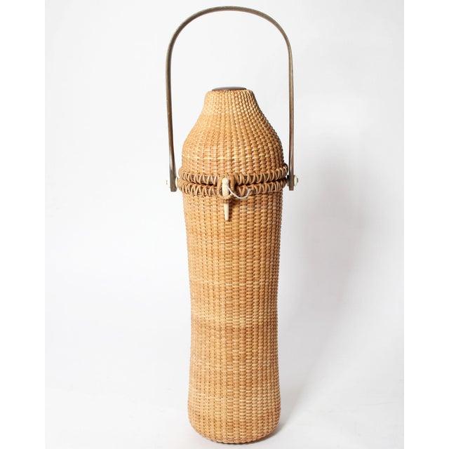 American Mid Century Nantucket Lightship Basket For Sale - Image 3 of 9