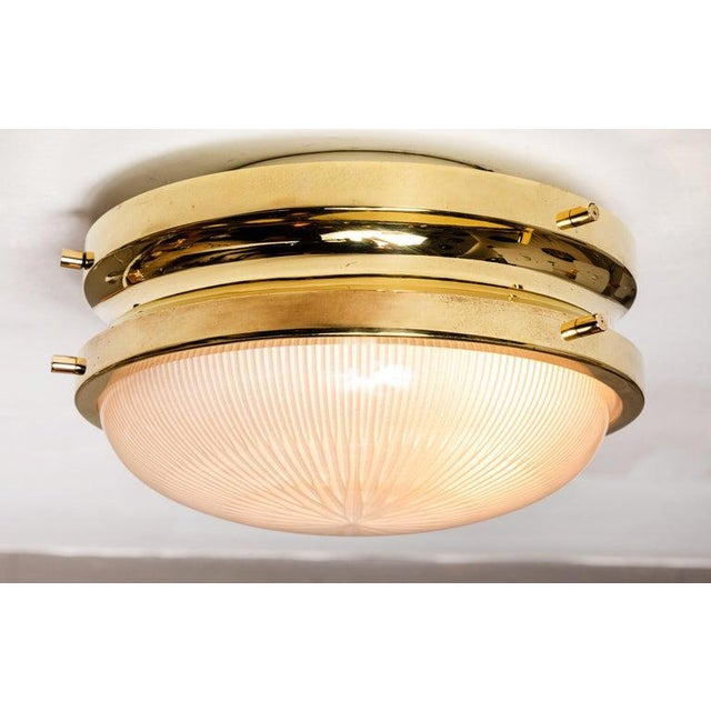 1960s Sergio Mazza Brass 'Sigma' Wall or Ceiling Light for Artemide For Sale - Image 12 of 13