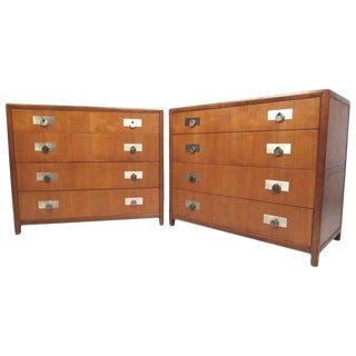 Vintage Pair of Michael Taylor for Baker Dressers For Sale