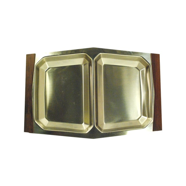 Mid-Century Modern Stelton Stainless Tray For Sale
