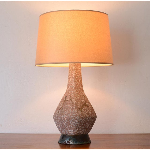 Mid-Century Modern Mid Century Lascaux Cave Paintings Ceramic Table Lamp For Sale - Image 3 of 12