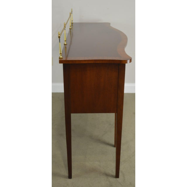 Ethan Allen 18th Century Collection Mahogany Inlaid Hepplewhite Style Sideboard For Sale - Image 10 of 13