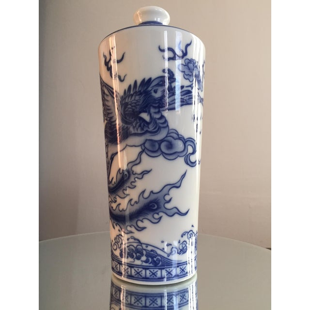 Blue and White Dragon Vases - Pair - Image 7 of 10