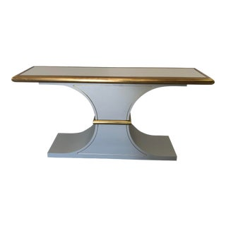 Hollywood Regency Mastercraft Console Table For Sale