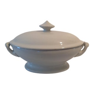 19th Century Antique Ironstone Oval Covered Bowl/ Tureen by Charles Meakin For Sale