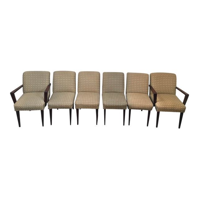 Mid-Century Upholstered Dining Chairs - Set of 6 - Image 1 of 10