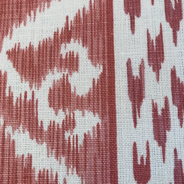 2010s Cowtan & Tout Rapallo Coral Fabric For Sale - Image 5 of 9