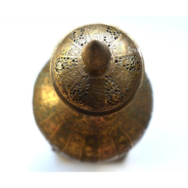 Vintage Moroccan Bohemian Brass Incense Burner - Image 3 of 5