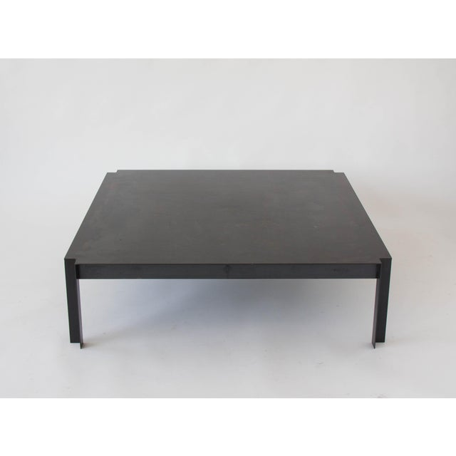 California-Designed Modernist Square Coffee Table - Image 3 of 8