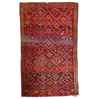 1910 Moroccan Berber Rug - 5′9″ × 9′9″ For Sale