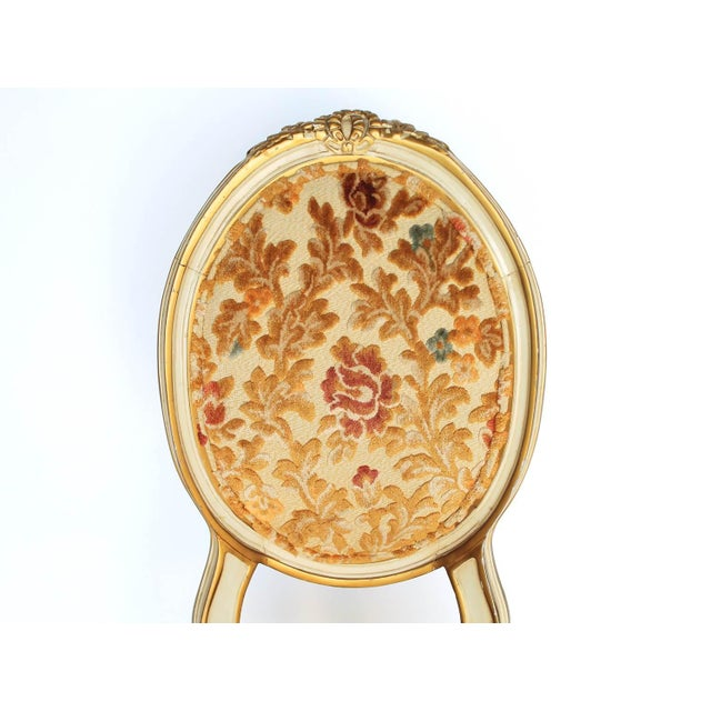 Floral Upholstered Side Chair For Sale In Milwaukee - Image 6 of 7