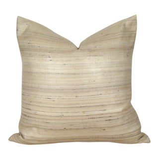 Beige & Ivory Tussah Silk Pillow Cover