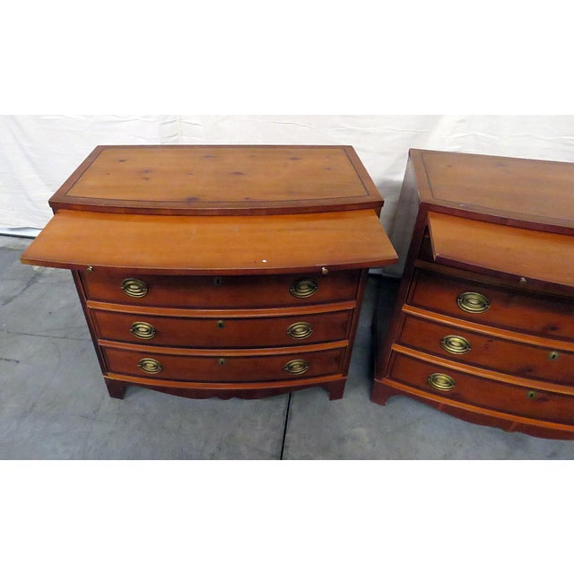 Hickory Furniture 20th Century Federal Hickory Mfr Bachelors Chests - a Pair For Sale - Image 4 of 10