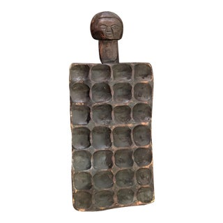 19th Century Congolese Hand Carved Board Game For Sale