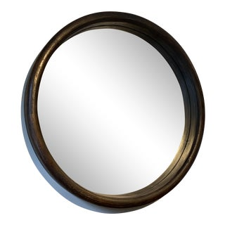 Privet House Round Wood Mirror For Sale