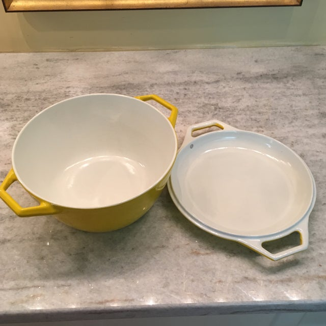 1960s Yellow Danish Copco Enamelware by Michael Lax - A Pair For Sale - Image 5 of 12