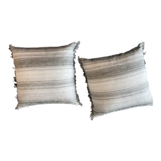 21st Century Striped Pillows - A Pair For Sale