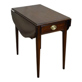Statton Solid Cherry Drop Leaf Pembroke Table For Sale