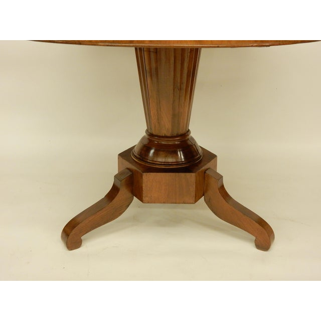 Traditional 19th C. Northern European Center Hall Table For Sale - Image 3 of 7