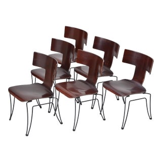 Set of Six Anziano Dining Chairs by John Hutton for Donghia For Sale