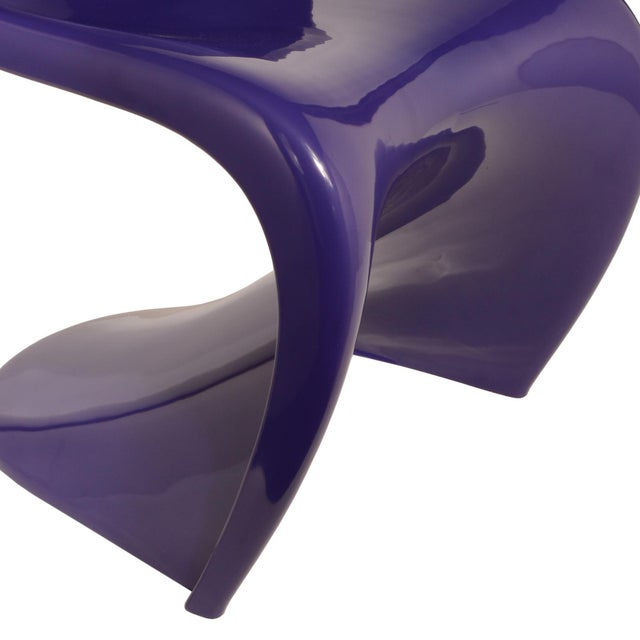 1976 Verner Panton S-Chair in Purple For Sale In Dallas - Image 6 of 10