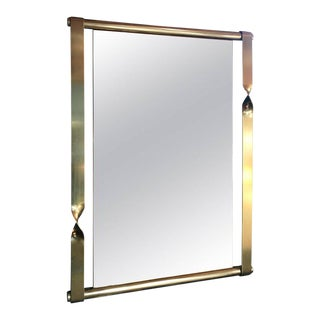 Aldo Frigerio Mirror in Brass, Italy, 1970s