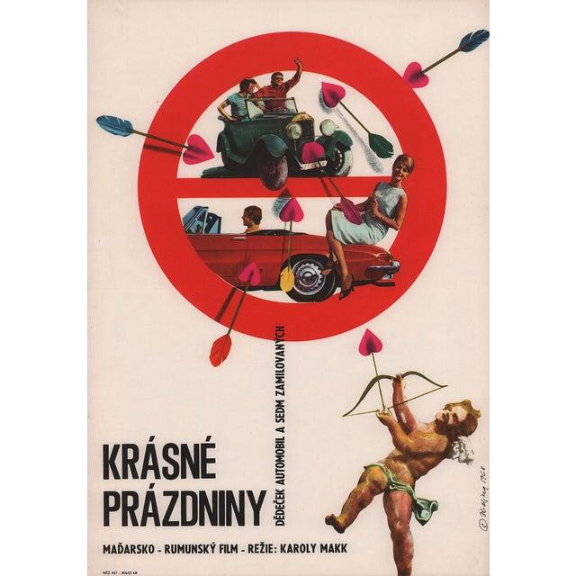 This original theatrical mini poster for Károly Makk's Hungarian comedy features fun Miroslav Hrdina artwork.