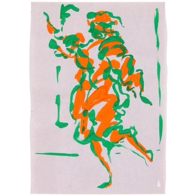 "Phillip Callahan ""Green & Orange"" Painting - Image 1 of 3"