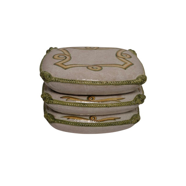 Vintage Neoclassical Ceramic Garden Stools - a Pair For Sale In San Francisco - Image 6 of 11