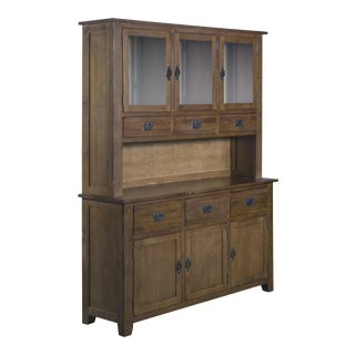 "Crafters and Weavers Mission 6 Door & 6 Drawer China Cabinet - Walnut - 59"" For Sale"