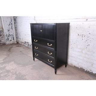 Baker Furniture Milling Road Collection French Regency Ebonized Gentleman's Chest, Newly Refinished Preview