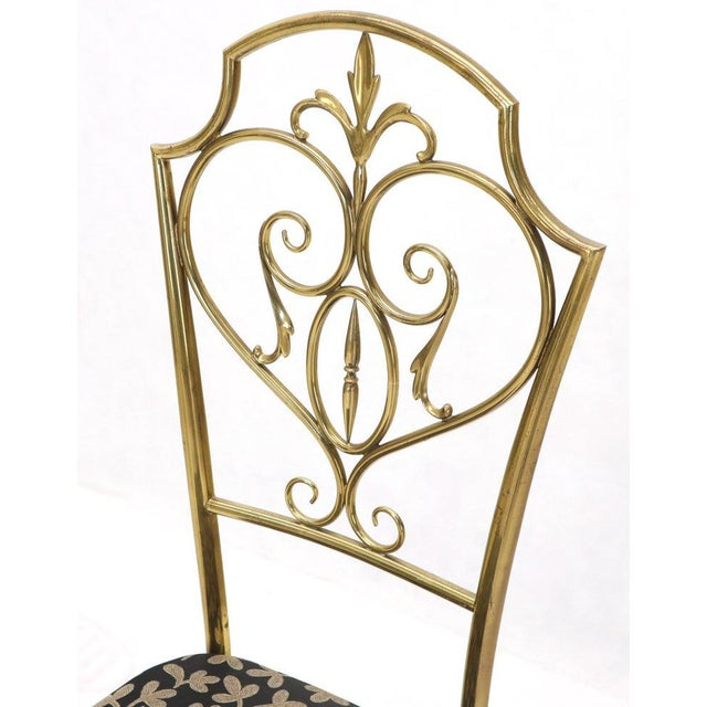 Mid 20th Century Set of 4 Italian Mid-Century Modern Chiavari Brass Chairs For Sale - Image 5 of 12