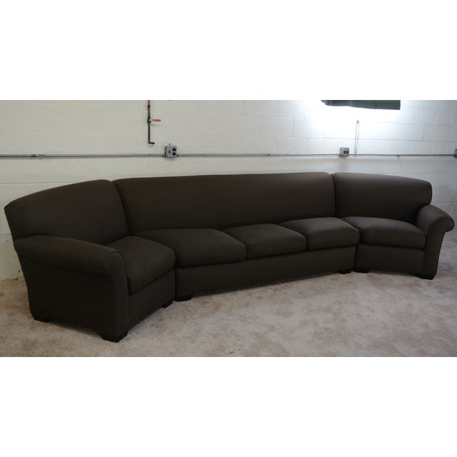 Addison Interiors Brown Wedge Sectional Sofa - 3 Pc. - Image 2 of 3