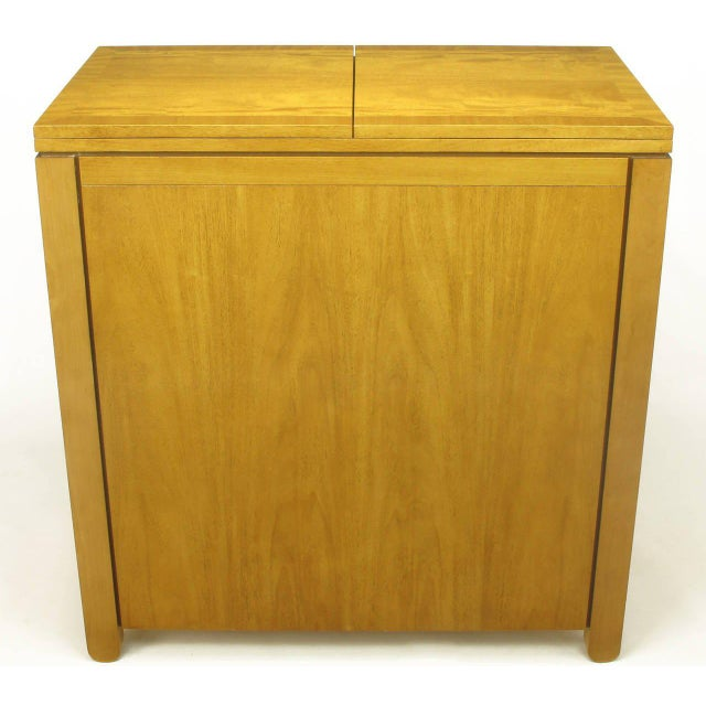 Metal Charles Pfister for Baker Primavera Mahogany Parquetry Bar Cabinet For Sale - Image 7 of 10