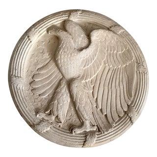 Antique Painted Metal Eagle Frieze Plaque