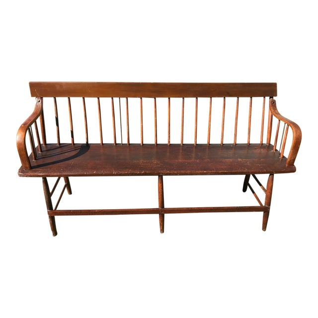 C. 1880s Vintage Church Pew Bench For Sale