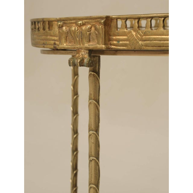 1940s French Bronze Bamboo Style Coffee Table Attributed to Bagues For Sale - Image 5 of 9