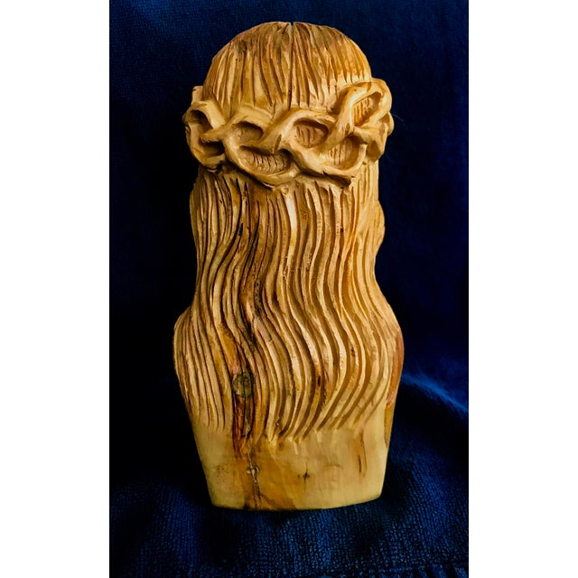 Hand Carved Olive Wood Sculpture - Image 6 of 9