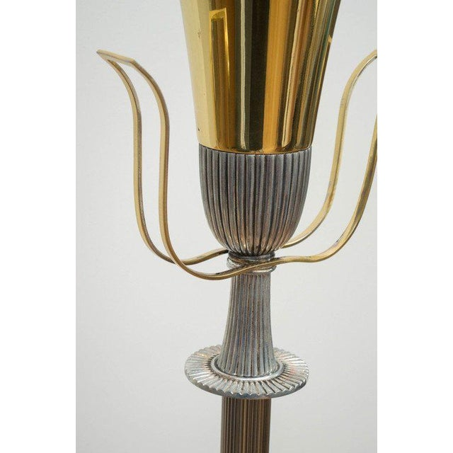 Tommi Parzinger Polished Floor Lamp - Image 4 of 7