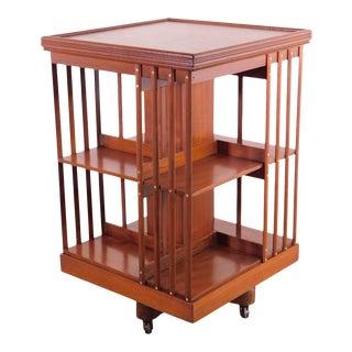 Trapnell & Gane Antique Mahogany Revolving Bookcase For Sale