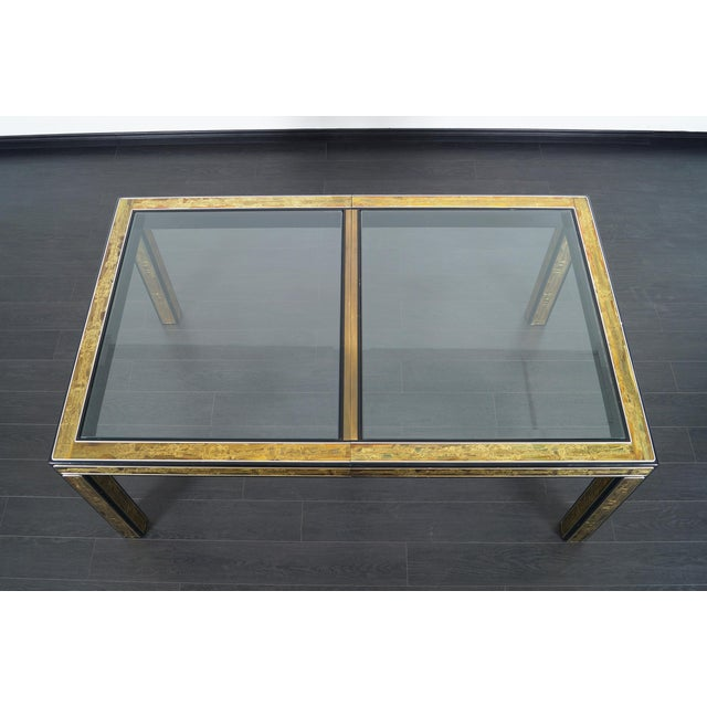 Brass Vintage Etched Brass Dining Table by Mastercraft For Sale - Image 7 of 9