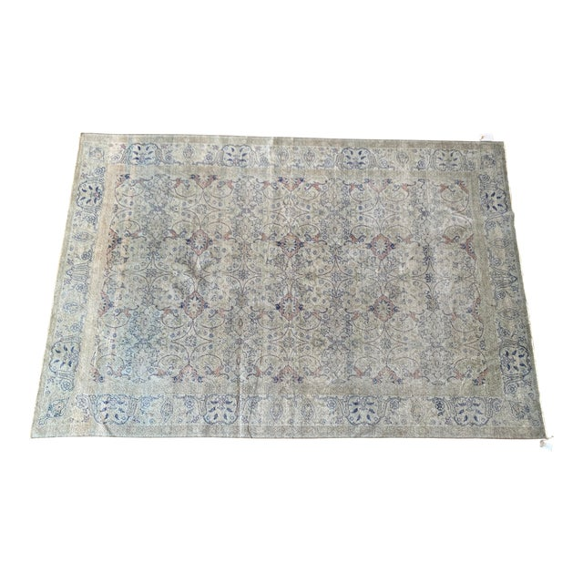 "Vintage Faded Persian Rug - 9' 0.5"" X 6' 1"" For Sale"