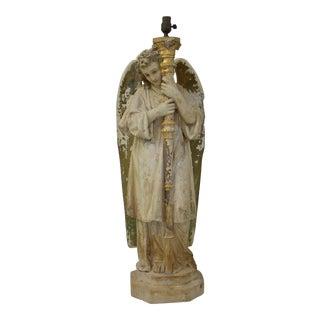 Vintage Angel Statuary Lamp