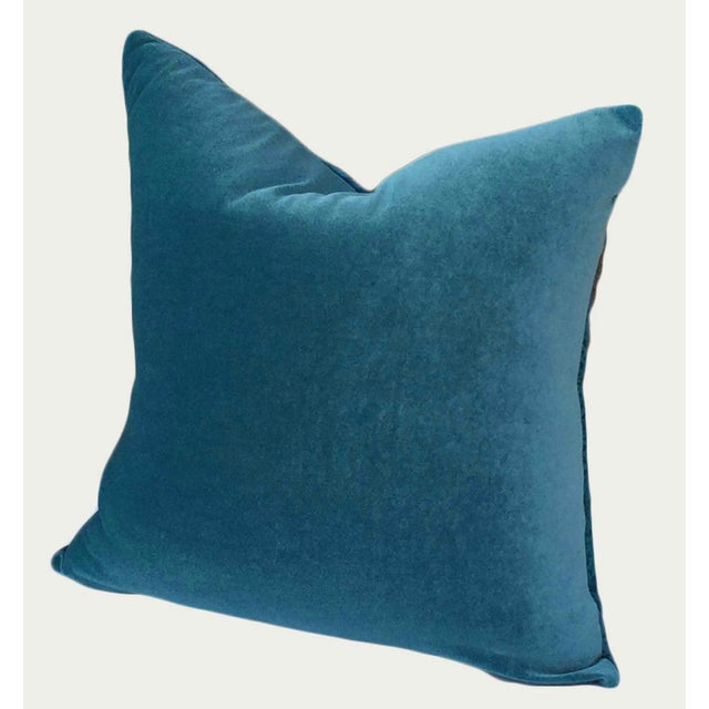 Luscious silk cut-velvet in a stunning teal blue. The cut design on the front is geometric, while the back is a solid...