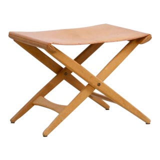 Folding Stool by Uno and Östen Kristiansson for Luxus Vittsjö For Sale