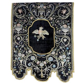 Italian 19th Century Silk Wall Hanging For Sale